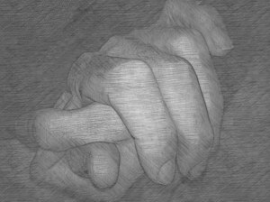 Holding my dad's hand in hospice