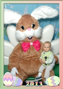 Logan with the Easter Bunny